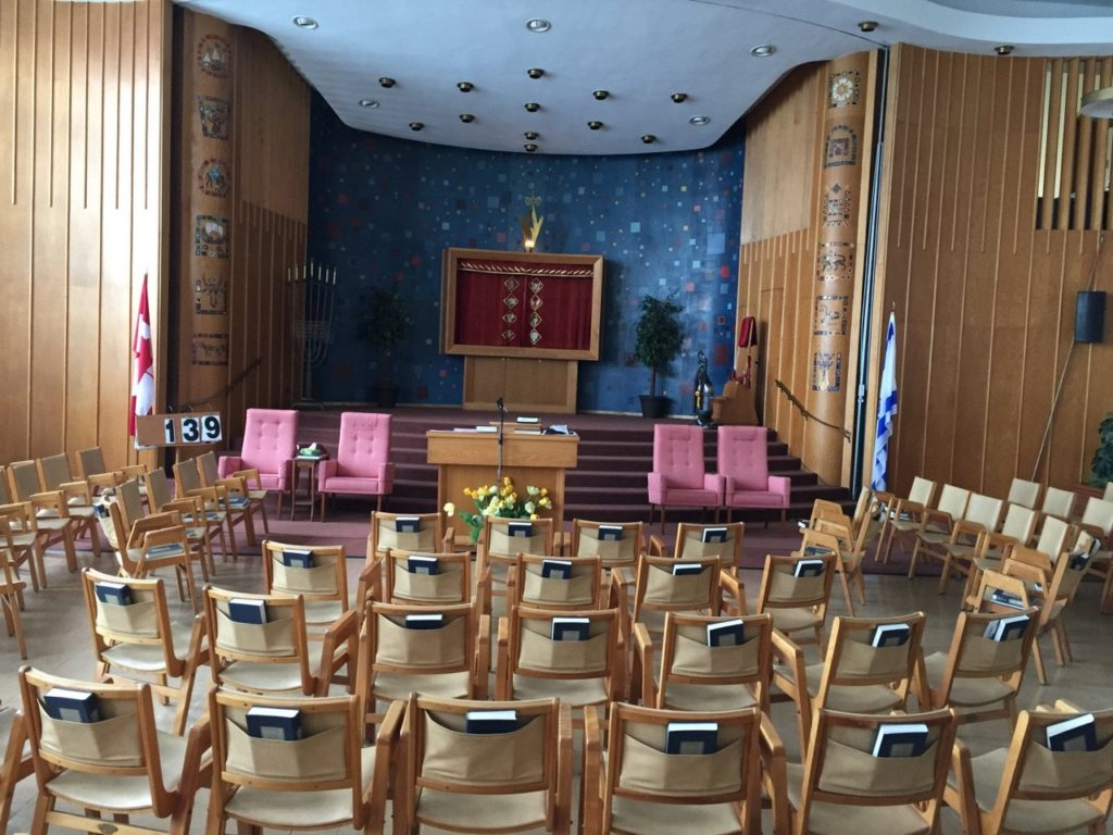 Shaar Shalom Sanctuary Seating