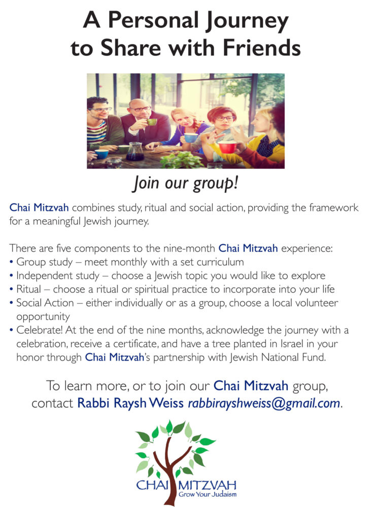Chai Mitzvah Program