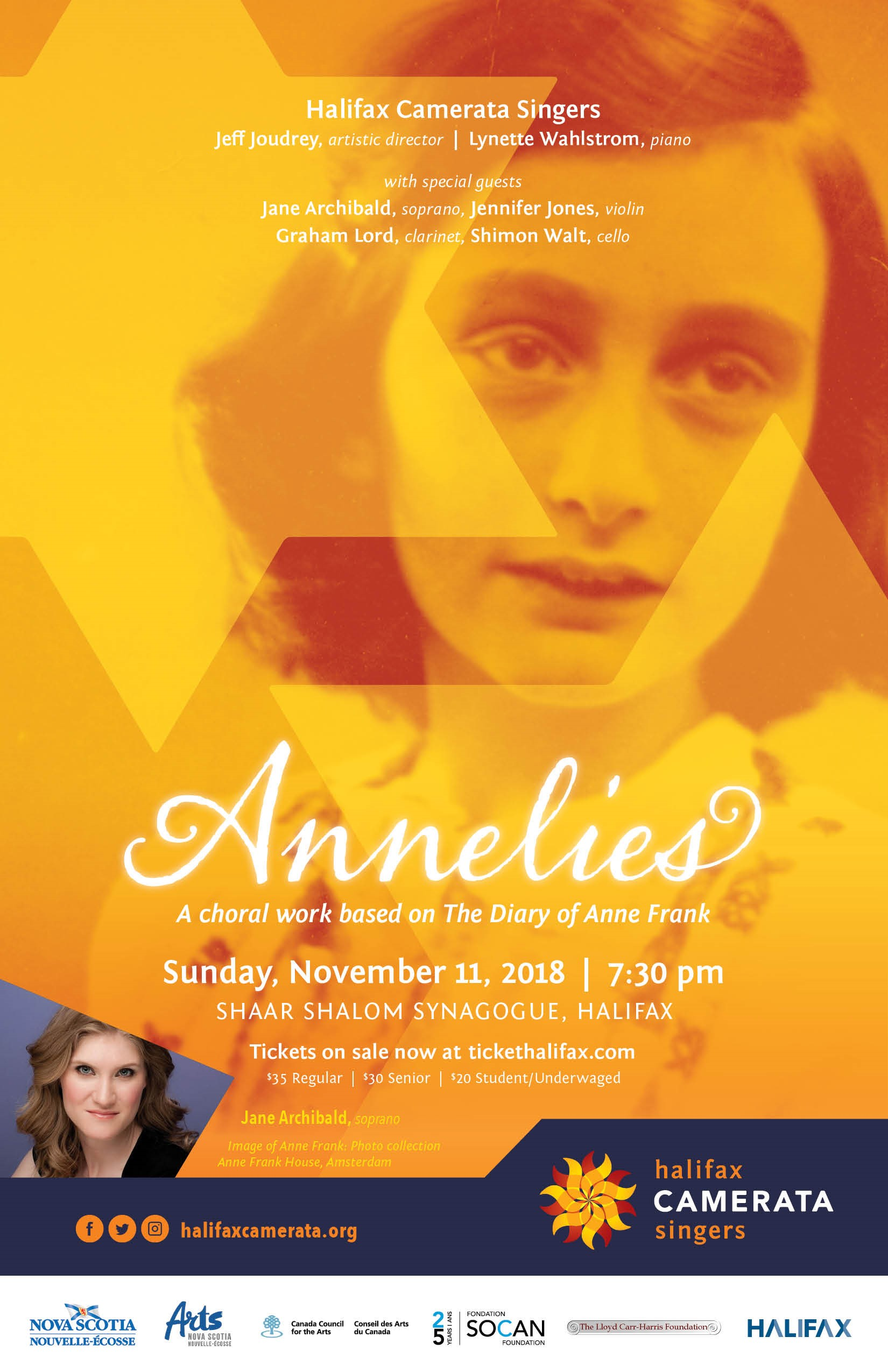 Annelies - A Choral work based on the Diary of Anne Frank with Jane Archibald